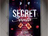 Secret Santa Flyer Templates Secret Santa Christmas Flyer Psd Template Psdmarket