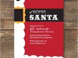 Secret Santa Flyer Templates Secret Santa Party Invitation Diy Printable by