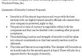 Security Business Proposal Template 10 Best Images Of Simple Security Guard Services Sample