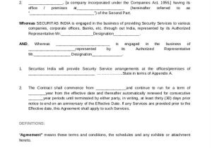 Security Company Contract Template 12 Company Contract Templates Word Pdf Google Docs