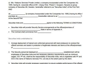 Security Company Contract Template 14 Security Contract Templates Word Pdf Apple Pages