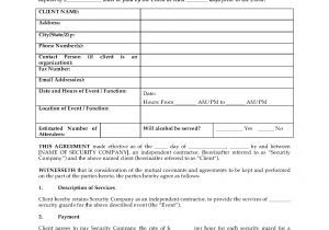 Security Company Contract Template Usa Security Guard Agreement for event or Function Legal