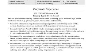 Security Guard Resume Sample Security Guard Resume Sample Monster Com