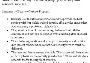 Security Proposal Templates 10 Best Images Of Simple Security Guard Services Sample