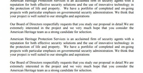 Security Service Proposal Template Service Proposal Template 14 Free Word Pdf Document