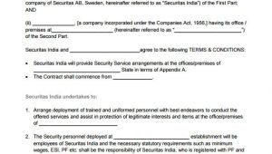 Security Services Contract Template 14 Security Contract Templates Word Pdf Apple Pages