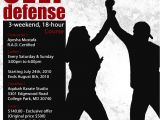 Self Defense Flyer Template Aqabah Karate July 2010