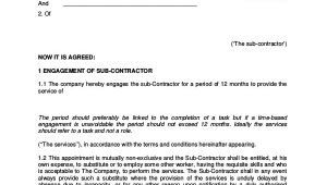 Self Employed Contract Template Uk Sample Self Employment Agreement 5 Documents In Pdf