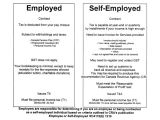 Self Employed Contract Template Uk Taxation Cada West