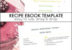 Self Publishing Book Templates Recipe Ebook Template and Next Comes L