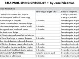 Self Publishing Templates the Self Publishing Checklist Editorial Production