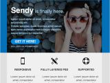 Sendy Email Templates 13 Powerful Flat Design HTML Email Templates Webdesignboom
