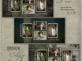 Senior Photo Collage Templates 10 X 20 Senior Collage Template andrew 10×20