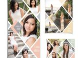 Senior Photo Collage Templates Senior Collage Template Set Diamonds 3 Photoshop Collage