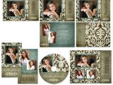 Senior Photo Collage Templates Uptown Photo Senior Graduation Template Set Announcement