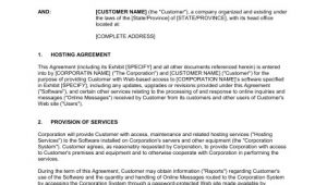 Server Hosting Contract Template Hosting Agreement Template Sample form Biztree Com