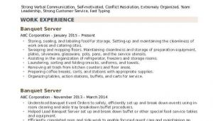 Server Resume Samples Banquet Server Resume Samples Qwikresume