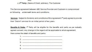 Service Agreement Contract Template Free 16 Service Contract Templates Word Pages Google Docs