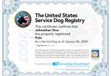 Service Animal Certificate Template How to Certify A Service Dog Care 4 Your Pets