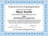 Service Animal Certificate Template Service Dog Registration Digital Certificate top Dog