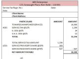 Service Charge Invoice Template Sample Service Tax Invoice Under Reverse Charge Mechanism
