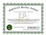 Service Dog Certificate Template Elegant Service Dog Certificate Template Best Templates