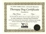 Service Dog Certificate Template How to Get Fake Service Dog Papers Best Samples Templates