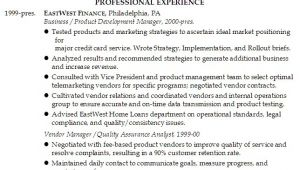 Service Industry Resume Template Resume Product Management In Financial Services Industry
