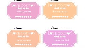 Sex Coupon Template Free Editable Love Coupons for Him or Her