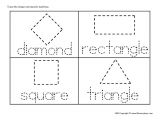 Shape Tracing Templates Shape Tracing Worksheets Free Worksheets Library