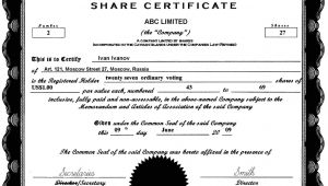 Share Certificate Template Canada Cayman islands Offshore Zones Offshore and