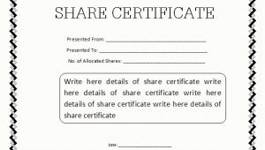 Share Certificate Template Pdf 13 Share Stock Certificate Templates Excel Pdf formats