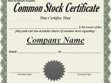 Shareholder Certificate Template Shareholder Certificate Sample