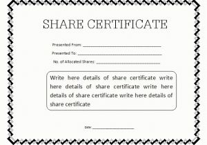 Shareholders Certificate Template Free 13 Share Stock Certificate Templates Excel Pdf formats