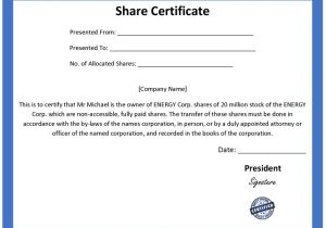Shareholders Certificate Template Free ordinary Share Certificate Template