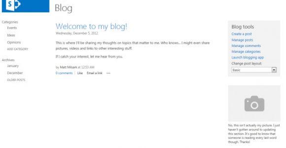 Sharepoint 2013 Blog Template Understanding Sharepoint 2013 Blog Site Templates