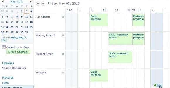 Sharepoint Calendar Templates Reservation Of Resources In Sharepoint 2013 and Sharepoint