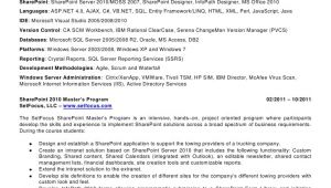 Sharepoint Sample Resume Developers Patricia todd Sharepoint Resume