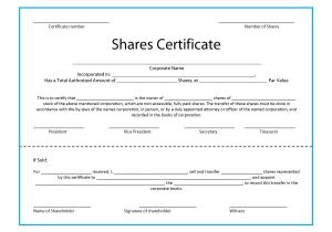 Shares Certificate Template 40 Free Stock Certificate Templates Word Pdf