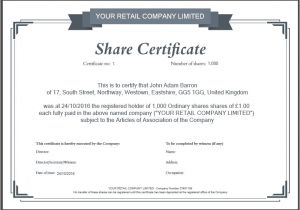 Shares Certificate Template Another Inform Direct Product Update October 2016