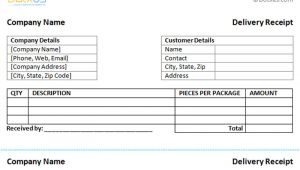Shipping Receipt Template Delivery Receipt Template Dotxes