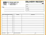 Shipping Ticket Template Delivery Receipt form Template Yagoa Me