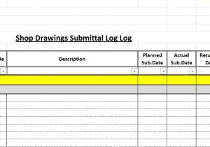 Shop Drawing Log Template How to Create A Shop Drawings Log with Sample File