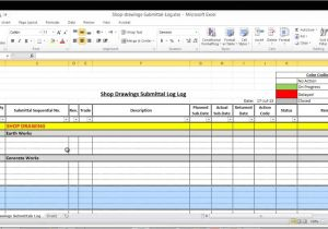 Shop Drawing Log Template Submittal Log Template Image Collections Professional