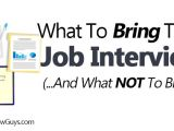 Should You Bring A Resume to A Job Interview What to Bring to A Job Interview and What Not to Bring