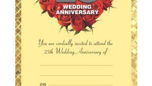 Silver Jubilee Marriage Anniversary Invitation Card 50th Anniversary Invitation Cards In 2020 50th Anniversary