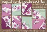Simple and Beautiful Card Making Diagonal One Sheet Wonder Cardmaking Class Instant Digital