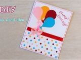 Simple and Easy Greeting Card Diy Beautiful Handmade Birthday Card Quick Birthday Card