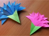 Simple and Easy Greeting Card Papercraft origami Flowers How to Make Easy Paper Flowers