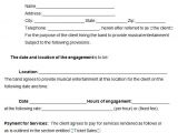Simple Band Contract Template Band Contract Template 5 Free Word Pdf Documents
